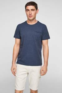 s.Oliver gemêleerd T-shirt blauw, Blauw