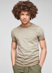 Q/S designed by dip-dye T-shirt taupe, Taupe