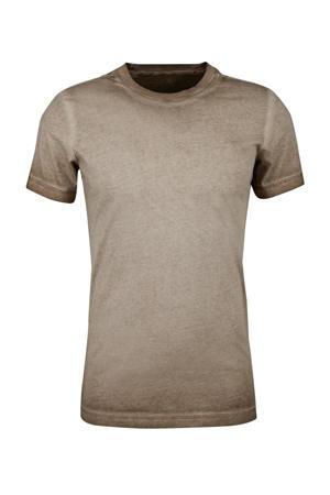 dip-dye T-shirt taupe