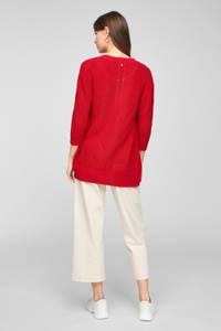 s.Oliver vest met open detail rood, Rood