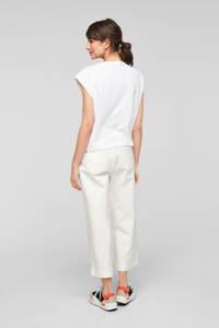 Q/S designed by T-shirt met printopdruk wit/roze, Wit/roze