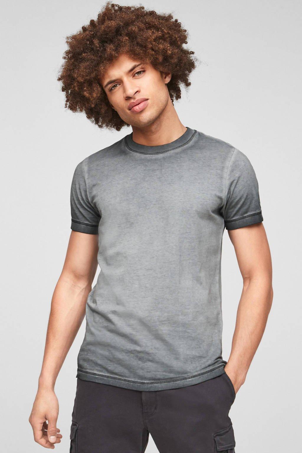 Q/S designed by dip-dye T-shirt grijs, Grijs