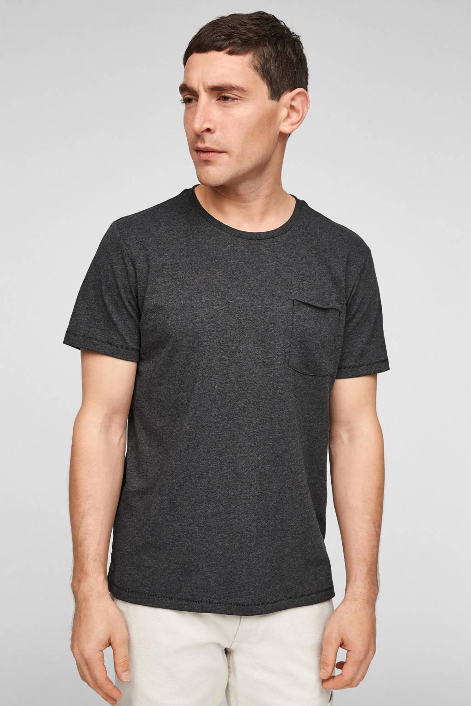 s.Oliver gemêleerd T-shirt zwart, Zwart
