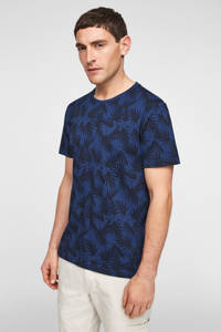 s.Oliver T-shirt met all over print blauw, Blauw