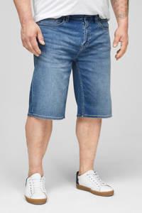 s.Oliver regular fit jeans short blauw, Blauw