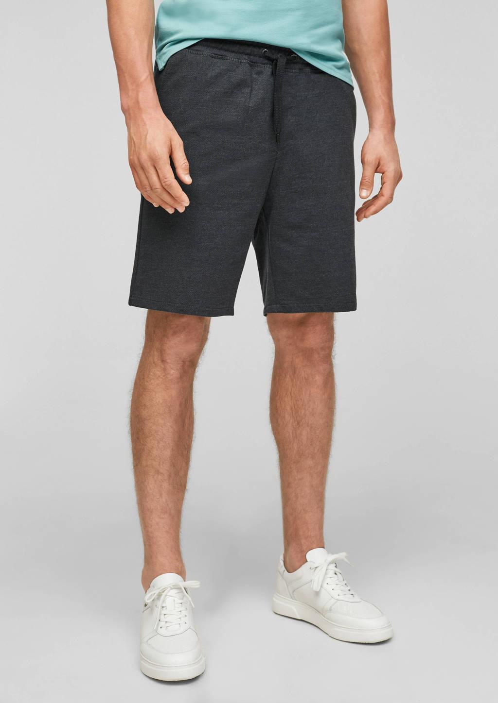 Q/S designed by regular fit short zwart, Zwart
