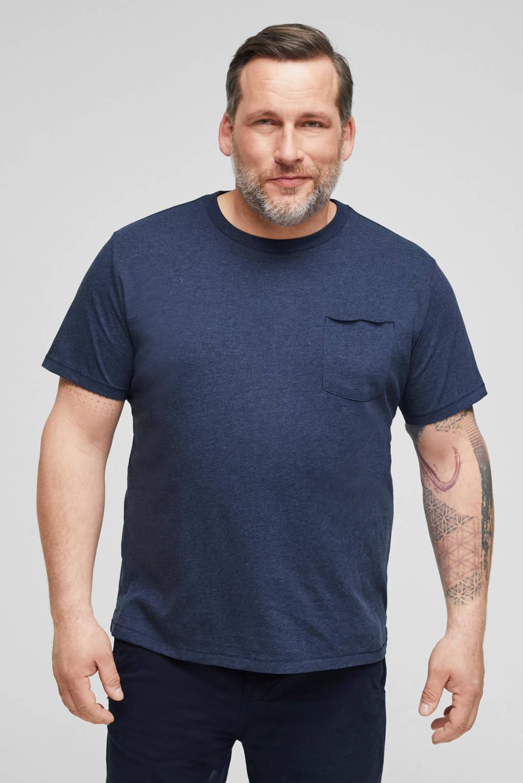 s.Oliver Big Size T-shirt blauw, Blauw