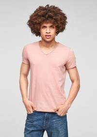 Q/S designed by slim fit T-shirt lichtroze, Lichtroze