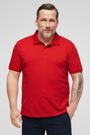 regular fit polo met logo rood