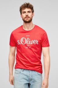 s.Oliver regular fit T-shirt met logo rood, Rood