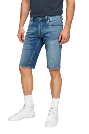 regular fit jeans short blauw