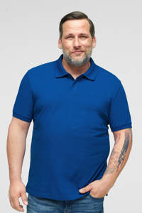 s.Oliver regular fit polo met logo blauw, Blauw