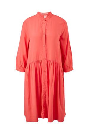 jurk met plooien rood