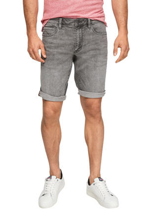 regular fit jeans short grijs