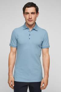 s.Oliver BLACK LABEL regular fit polo lichtblauw, Lichtblauw
