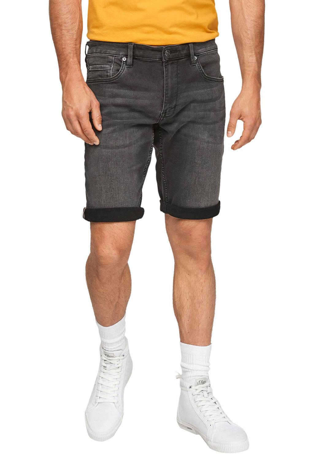 s.Oliver regular fit jeans short antraciet, Antraciet