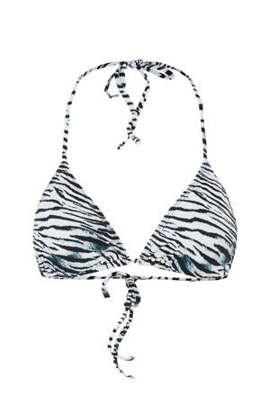 triangel bikinitop Gaomi met zebraprint zwart/wit