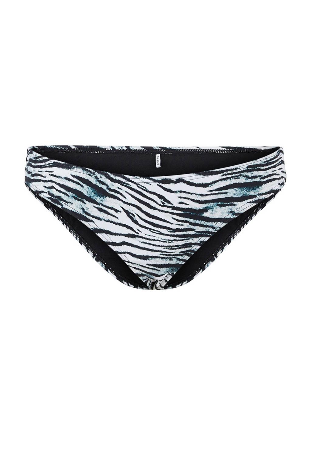 PIECES bikinibroekje Gaomi met zebraprint zwart/wit, Zwart/wit