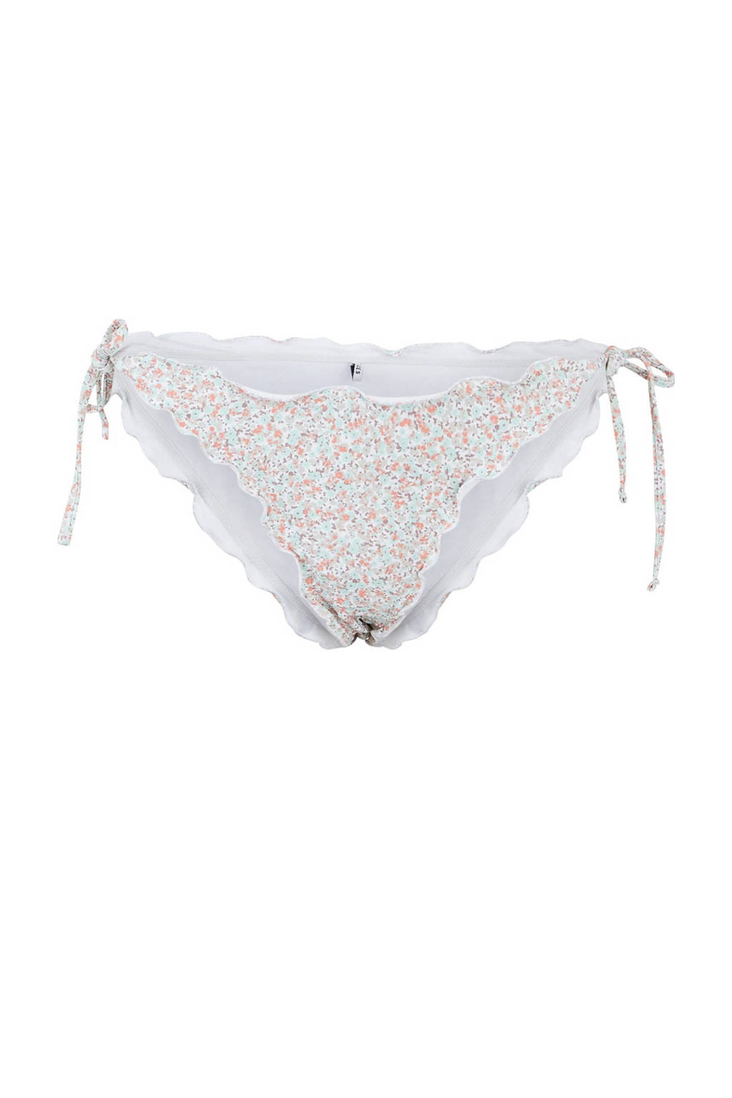 PIECES gebloemd strik bikinibroekje Gaby lichtblauw, Lichtblauw