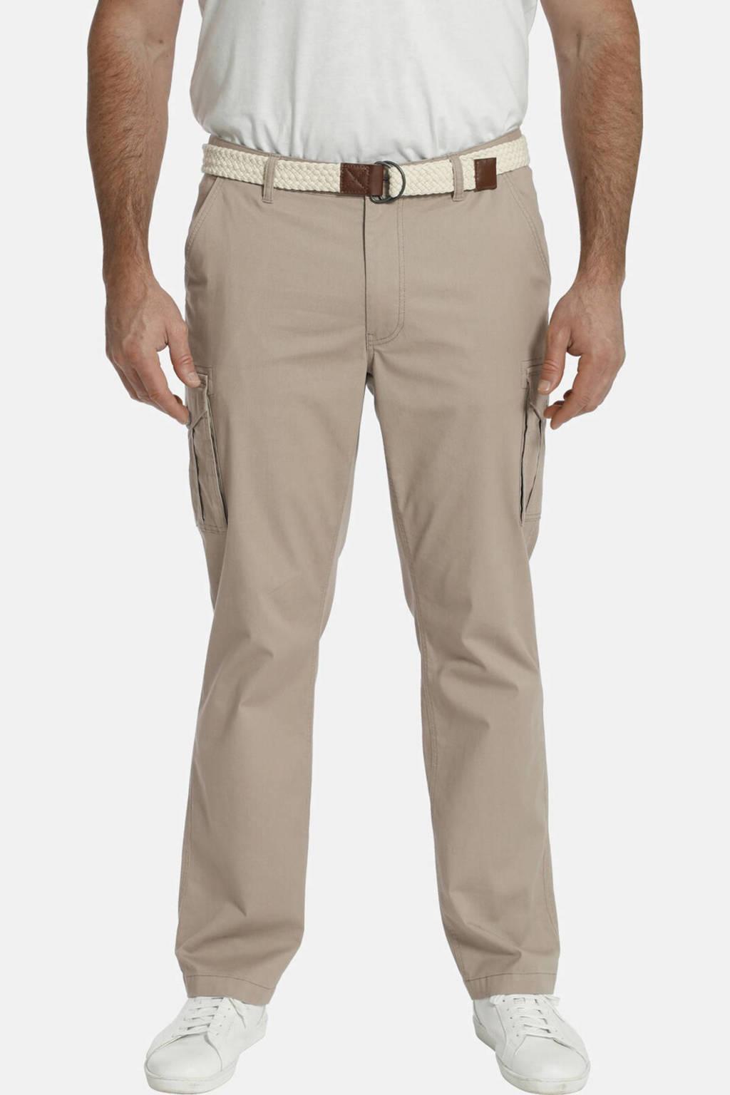 Charles Colby loose fit cargobroek BARON GARTH Plus Size beige, Beige