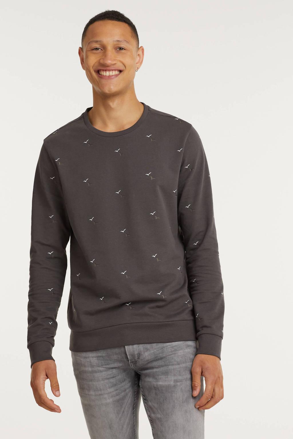 Cars sweater TIAGO met all over print antraciet, Antraciet