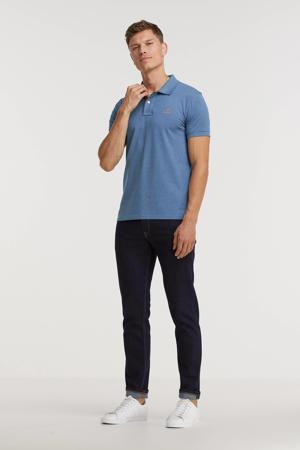 regular fit T-shirt blauw