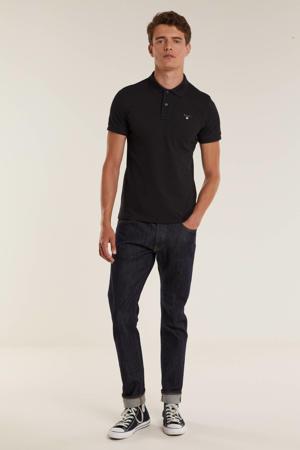 regular fit shirt zwart