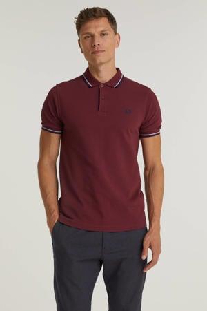 regular fit shirt Twin tipped met contrastbies aubergine