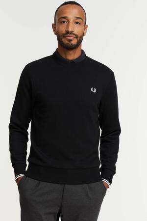 sweater met contrastbies zwart