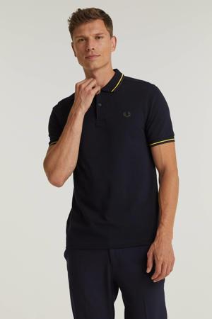 regular fit shirt Twin tipped met contrastbies marine