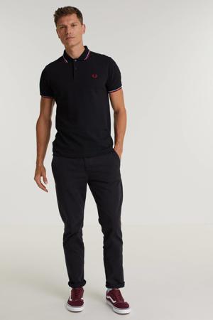 regular fit shirt Twin tipped met contrastbies zwart