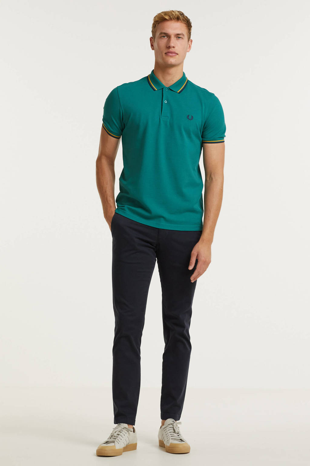 Fred Perry polo met contrastbies bottle green