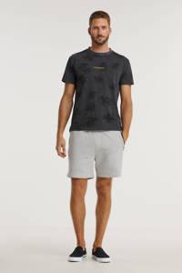 CALVIN KLEIN JEANS T-shirt van biologisch katoen grijs/zwart, Grijs/zwart