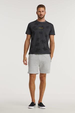 T-shirt van biologisch katoen grijs/zwart