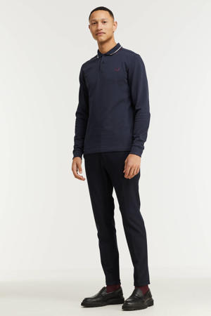 polo Twin tipped met contrastbies donkerblauw