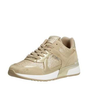 MAYBEL  sneakers met glitters beige/goud