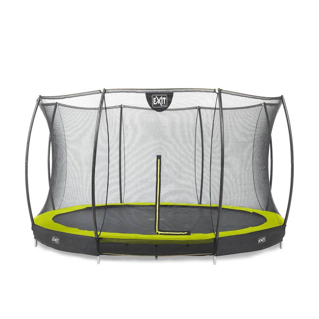 EXIT Silhouette Ground trampoline Ø366 cm, Limegroen