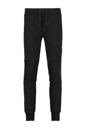 slim fit joggingbroek Cedric met tekst zwart