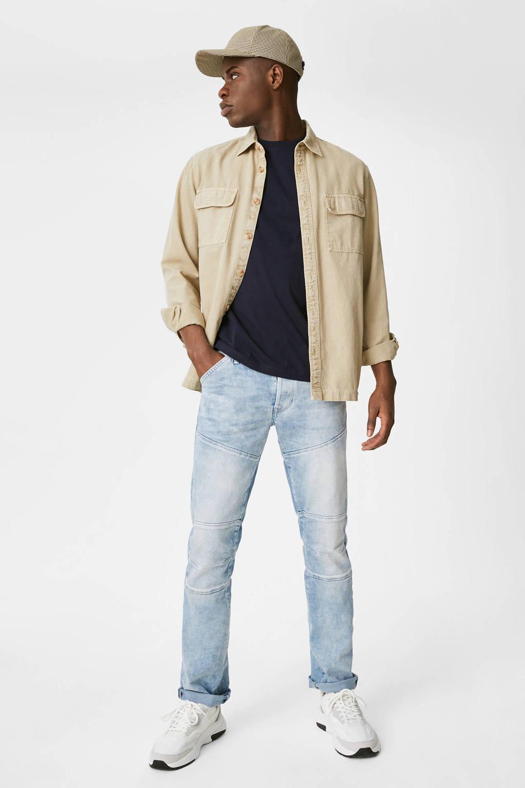 C&A The Denim straight fit jeans lichtblauw, Lichtblauw