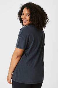 C&A T-shirt met printopdruk antraciet, Antraciet