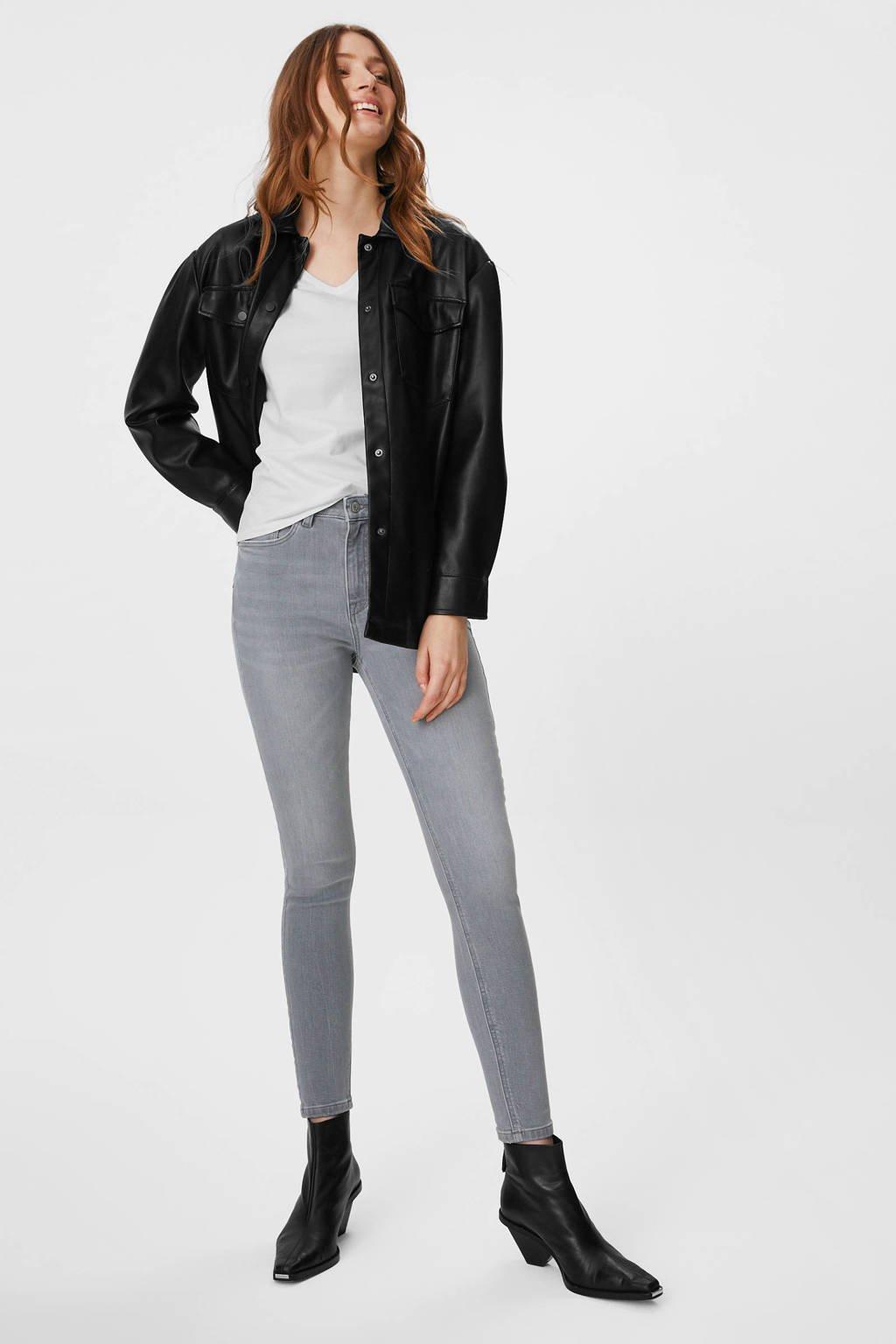 C&A The Denim high waist skinny jeans met biologisch katoen grijs, Grijs
