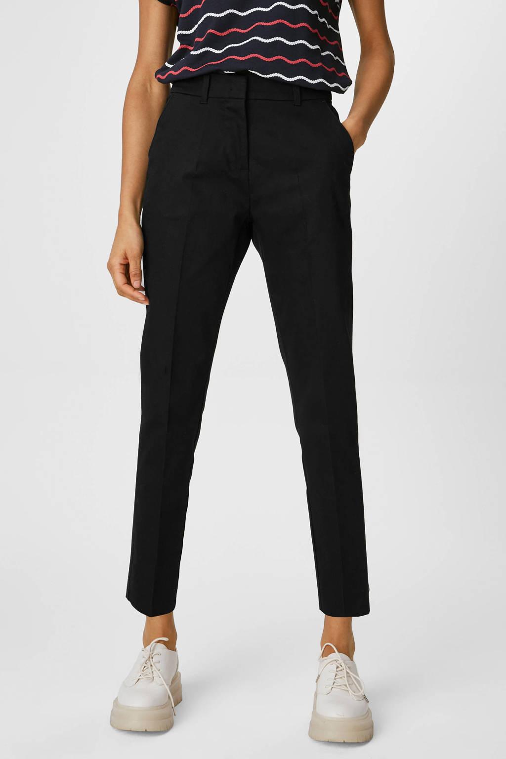 C&A Yessica straight fit broek zwart, Zwart