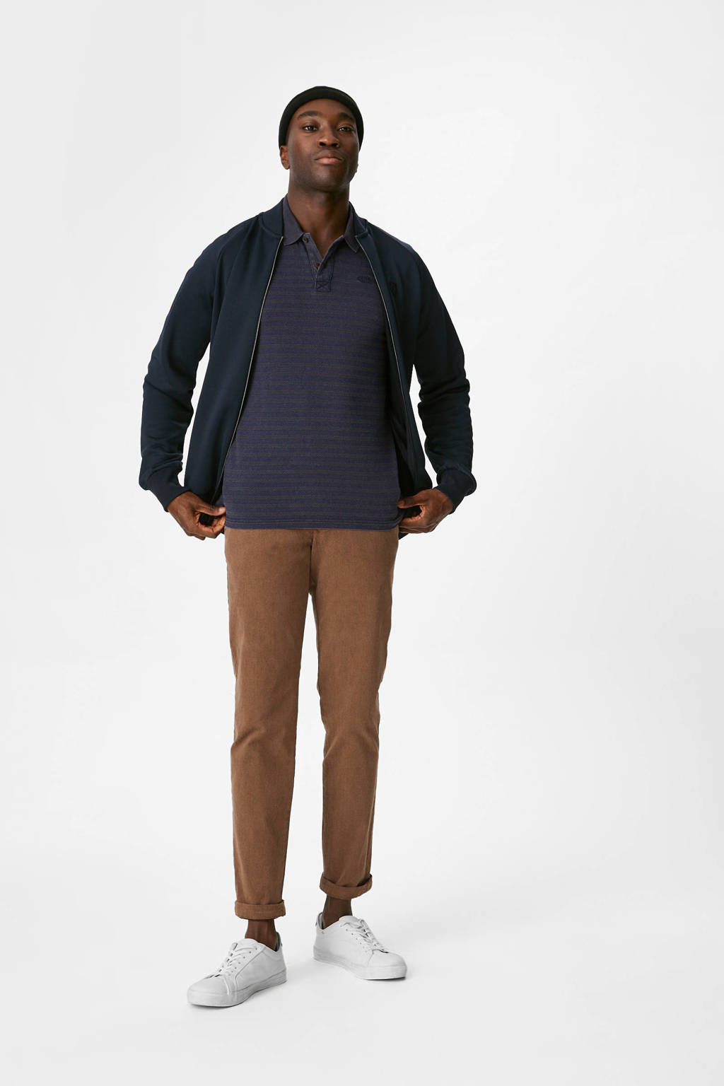 C&A regular fit polo donkerblauw, Donkerblauw