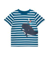 C&A Tough Team gestreept T-shirt van biologisch katoen blauw/wit, Blauw/wit