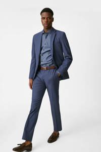 C&A Angelo Litrico slim fit overhemd van biologisch katoen blauw, Blauw