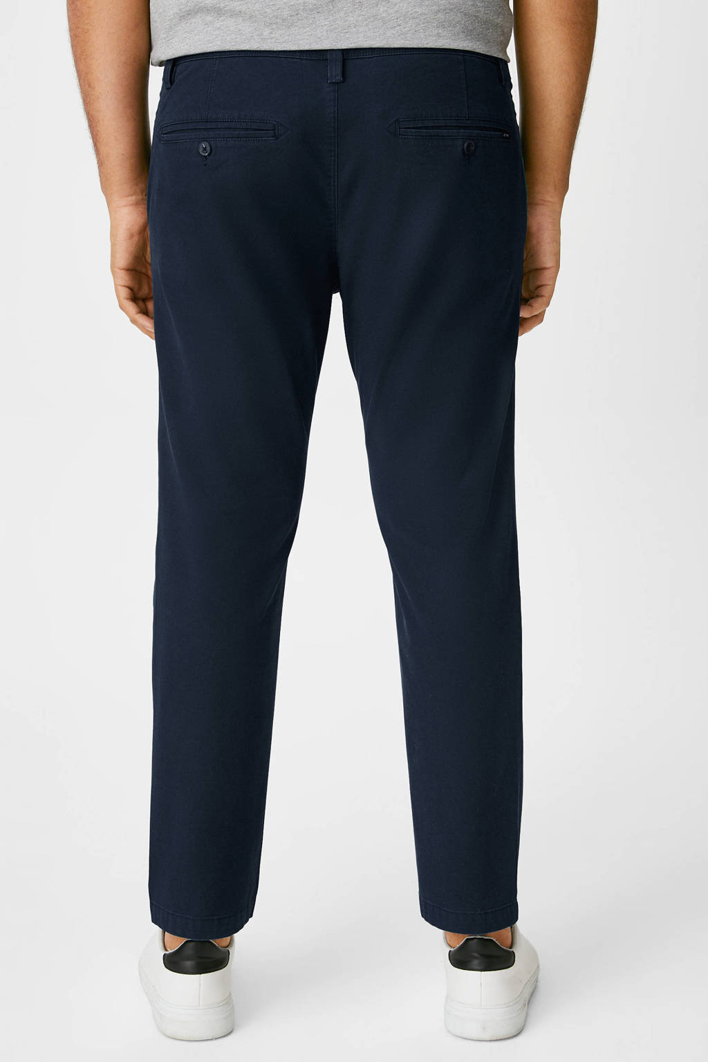C&A XL slim fit chino donkerblauw, Donkerblauw