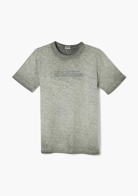 s.Oliver T-shirt met tekst groen, Groen