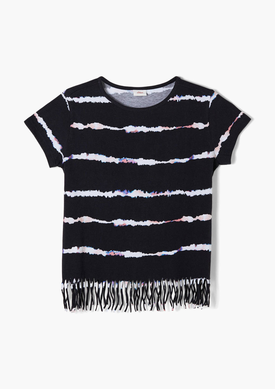 s.Oliver tie-dye T-shirt /wit