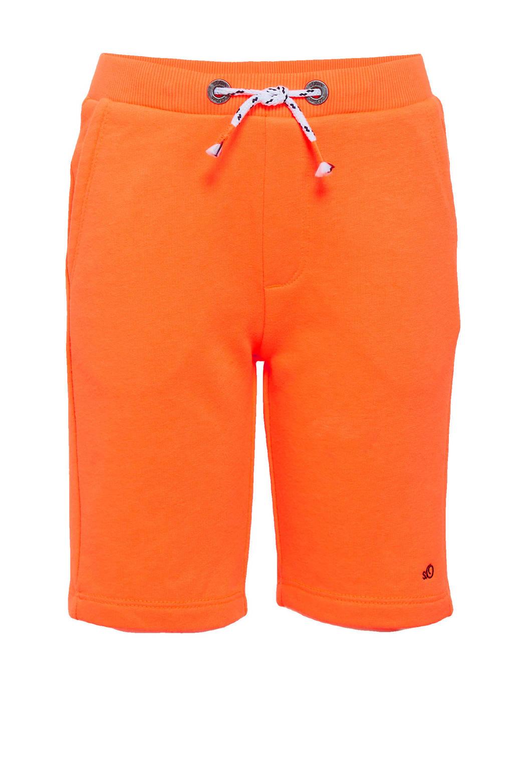 s.Oliver slim fit sweatshort oranje, Oranje