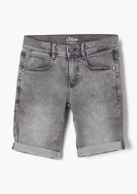 s.Oliver regular fit jeans bermuda grijs, Grijs